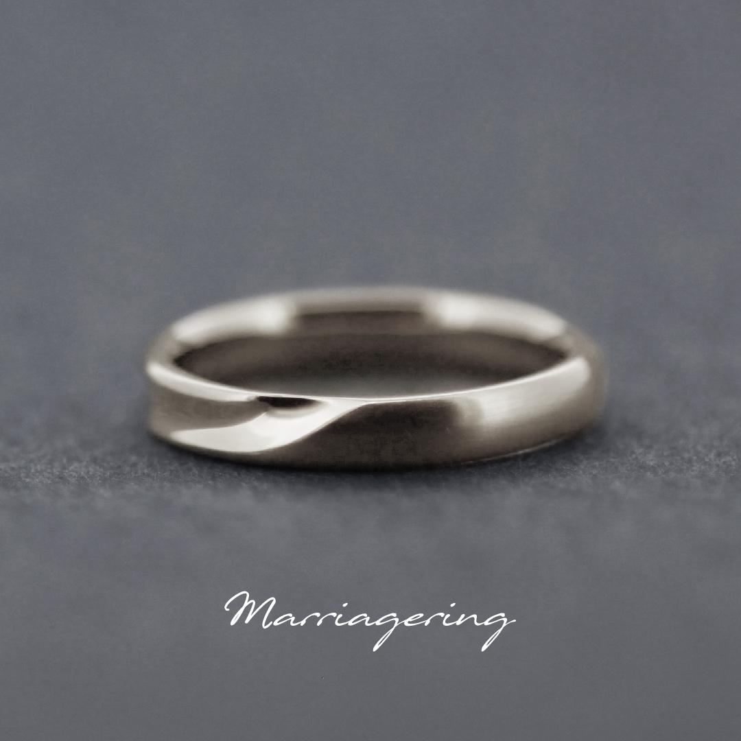 男性用のストレートラインの結婚指輪①