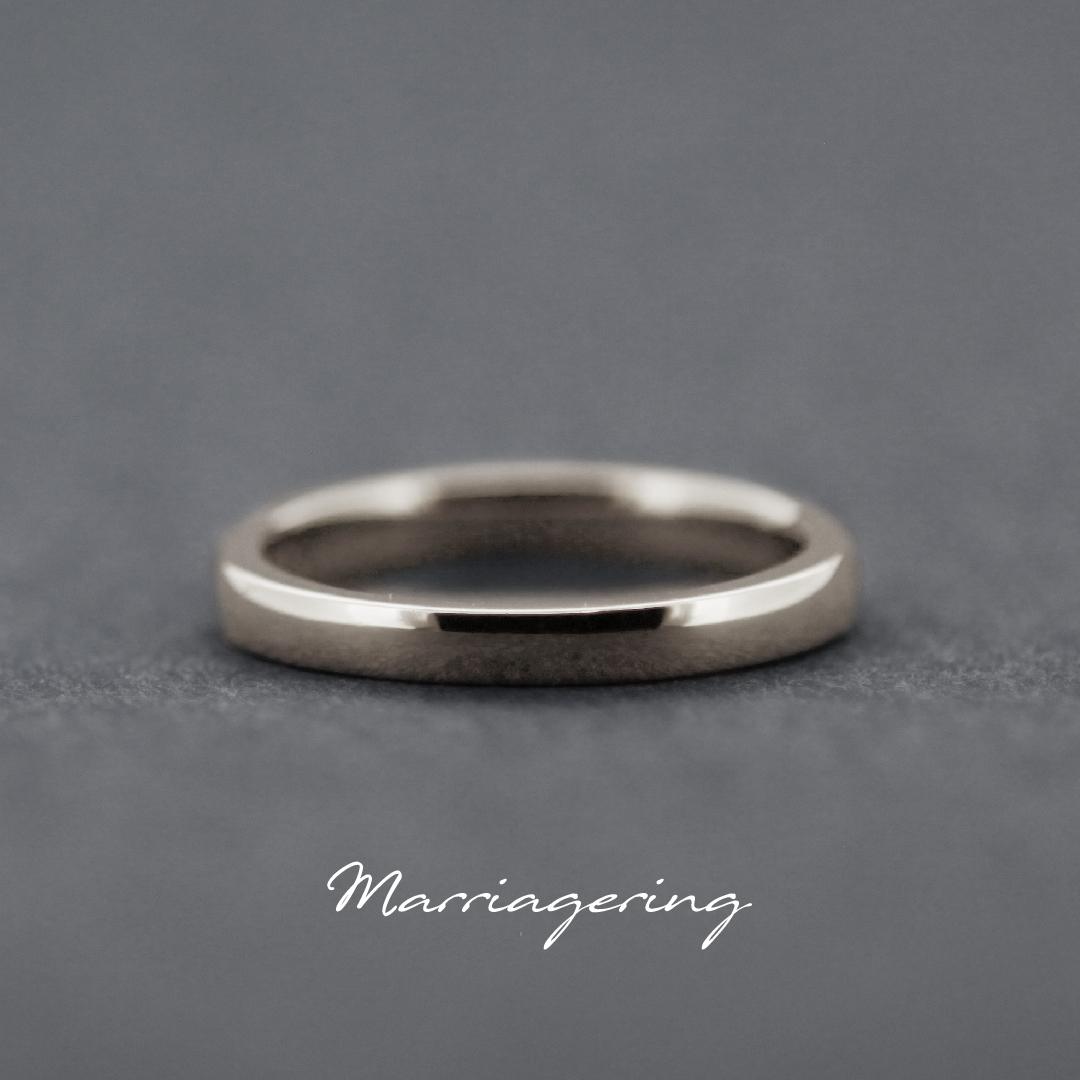 男性用のストレートラインの結婚指輪②