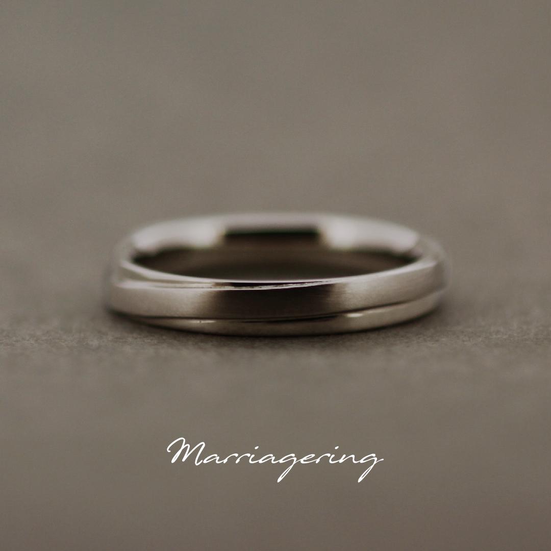 男性用のストレートラインの結婚指輪③