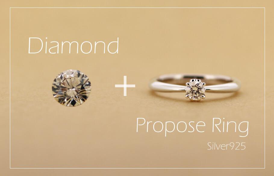 プロポーズリングとダイヤモンド