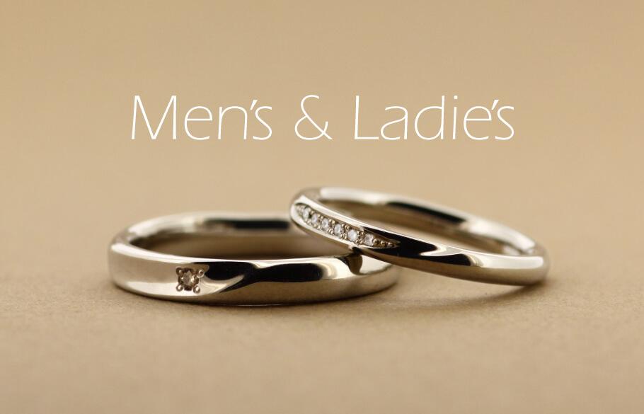 各々ダイヤアレンジをしたペアの結婚指輪